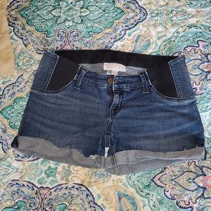 Denim Maternity Shorts